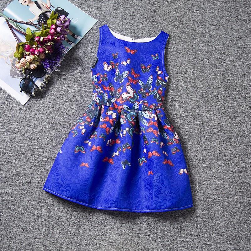 robe enfant motif papillons